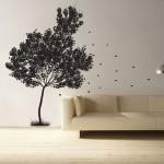 สติกเกอร์ติดผนัง ภาพ Falling Leaves Tree Wall Sticker