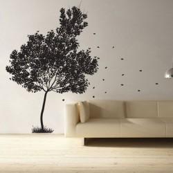 สติกเกอร์ติดผนัง ภาพ Falling Leaves Tree  Wall Sticker (WD-0132)