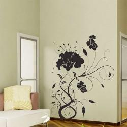 สติกเกอร์ติดผนัง Flower Swirl Wall Sticker (WD-0136)
