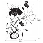 สติกเกอร์ติดผนัง Flower Swirl Wall Sticker