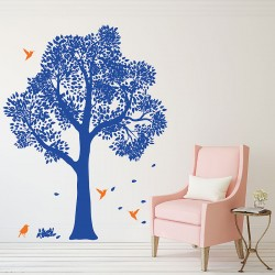 Large Tree with Birds  Vinyl Wall Art Decal (WD-0142)