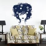 สติกเกอร์ติดผนัง ภาพ Beautiful Hair Lady Wall Sticker