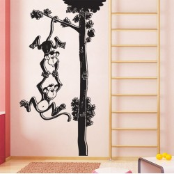 Monkey Branch Vinyl Wall Art Decal (WD-0145)