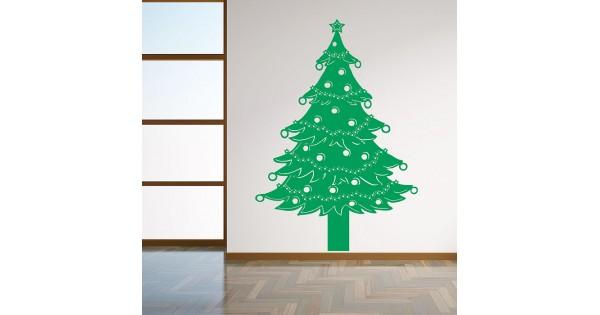 christmas tree wall decal with lights christmas tree lights vinyl wall art decal