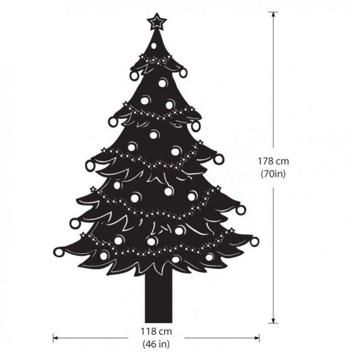 Christmas Tree Lights Vinyl Wall Art Decal Part 68