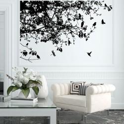 สติกเกอร์ติดผนัง ภาพ Tree Branch With Birds  Wall Sticker (WD-0158)