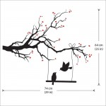 สติกเกอร์ติดผนัง Blossom Tree Branch with Bird Of Love Wall Sticker