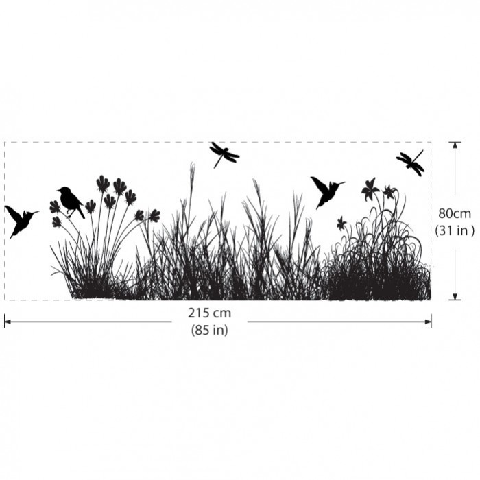 With Animals Vinyl Wall Art Decal - Wall decals grass