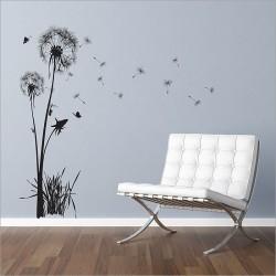 สติกเกอร์ติดผนัง Dandelions Floral Wall Sticker (WD-0166)
