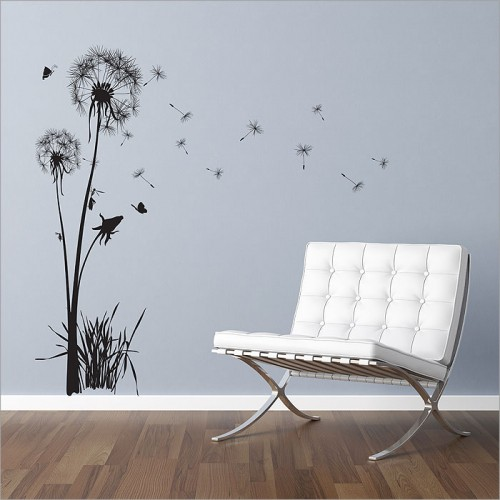 สติกเกอร์ติดผนัง Dandelions Floral Wall Sticker