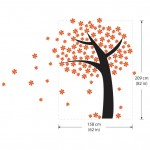 Orange Flower Tree Vinyl Wall Art Decal