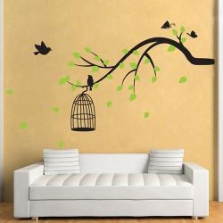 สติกเกอร์ติดผนัง Tree Branch With Birds,Butterfly Wall Sticker (WD-0175)