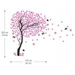 สติกเกอร์ติดผนัง Cherry Blossom Tree with Butterfly Wall Sticker