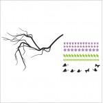 สติกเกอร์ติดผนัง ภาพ Blossom Branch with Butterflies Wall Sticker