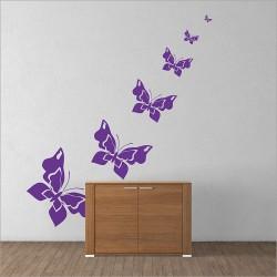 สติกเกอร์ติดผนัง ผีเสื้อ Butterfly Wall Sticker (WD-0184)