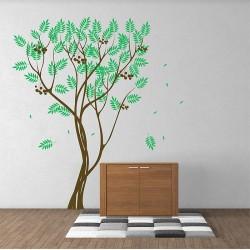 สติกเกอร์ติดผนัง Tree Large Falling Leaves Wall Tattoo (WD-0185)