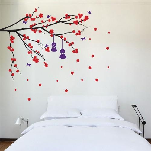 สติกเกอร์ติดผนัง Cherry Blossom Branch Wall Sticker