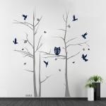 สติกเกอร์ติดผนัง Tree with Animals Wall Decal