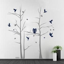 สติกเกอร์ติดผนัง Tree with Animals Wall Decal (WD-0191)