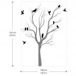 สติกเกอร์ติดผนัง Tree With Birds Wall Tattoo