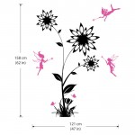 สติกเกอร์ติดผนัง Flower with Fairies Wall Sticker
