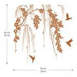 สติกเกอร์ติดผนัง Tree Branch with Birds Wall Sticker