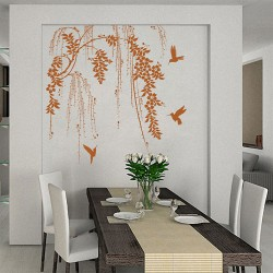 Tree Branch with Birds Vinyl Wall Art Decal (WD-0196)