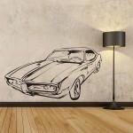 สติกเกอร์ติดผนัง Classic Car Wall Sticker