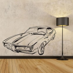 Classic Car Vinyl Wall Art Decal (WD-0197)