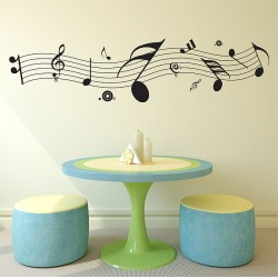 Music Note Vinyl Wall Art Decal (WD-0207)