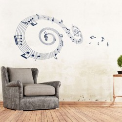 Music Note Vinyl Wall Art Decal (WD-0210)