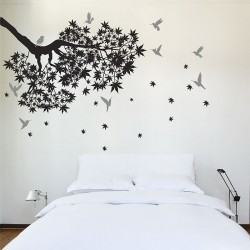 Tree Branch with Birds Vinyl Wall Art Decal (WD-0214)