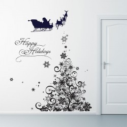 Snowflake Tree Vinyl Wall Art Decal (WD-0216)