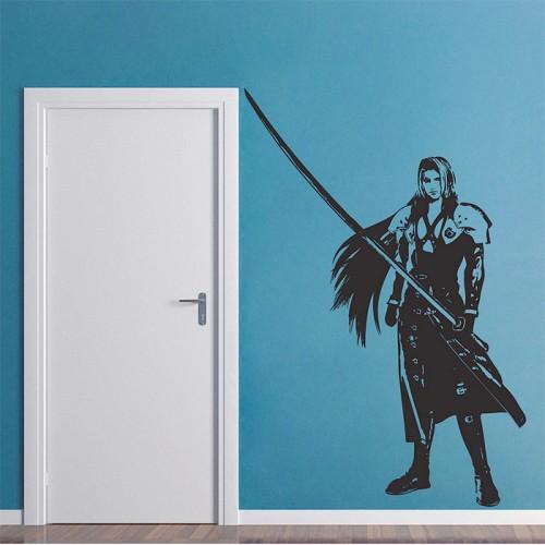 สติกเกอร์ติดผนัง ไฟนอลแฟนตาซี Sephiroth Final Fantasy Wall Art