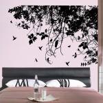 สติกเกอร์ติดผนัง ภาพ Tree Branch with Birds Wall Sticker