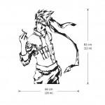 Hatake Kakashi from Naruto Vinyl Wall Art Decal
