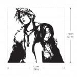 สติกเกอร์ติดผนัง Squall and Rinoa Final Fantasy Wall Decal