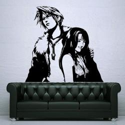 สติกเกอร์ติดผนัง Squall and Rinoa Final Fantasy Wall Decal (WD-0232)