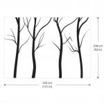 สติกเกอร์ติดผนัง Large Tree without Leaf Wall Sticker