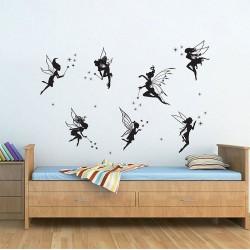 สติกเกอร์ติดผนัง นางฟ้า Fairies Wall Sticker (WD-0235)