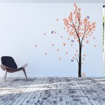 Tree Blossom with Butterfly Vinyl Wall Art Decal
