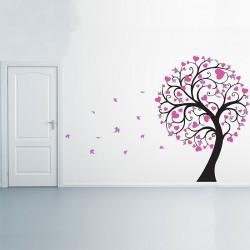 สติกเกอร์ติดผนัง Blossom Large Tree with Hearts Wall Sticker (WD-0243)