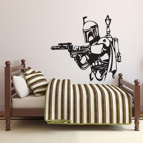 สติกเกอร์ติดผนัง Star Wars Boba Fett Wall Art
