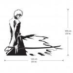 สติกเกอร์ติดผนัง Bleach Kurosaki Ichigo Wall Sticker