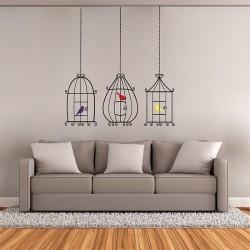 สติกเกอร์ติดผนัง Bird Cages Wall Sticker (WD-0269)