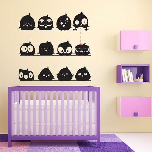 สติกเกอร์ติดผนังLittle Chick Cute Wall Sticker