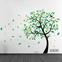 สติกเกอร์ติดผนัง Large Tree with Birds Wall Sticker (WD-0272)