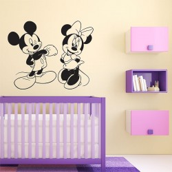 Disney Character Mickey and Minnie Mouse Vinyl Wall Art Decal (WD-0274)
