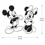 สติกเกอร์ติดผนัง  มิกกี้เม้าส์ มินนี่เม้าส์ Disney  Mickey Minnie Mouse Wall Sticker