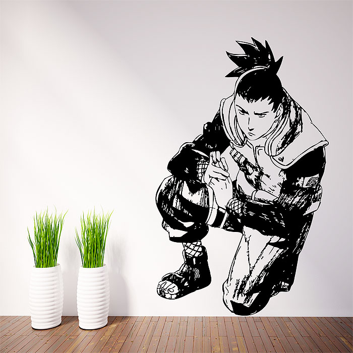 Tattoo Wall Art shikamaru 3 from naruto vinyl wall art decal